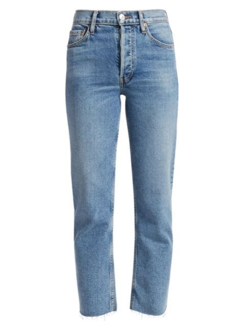 Re/done High-Rise Stovepipe Jeans   SaksFifthAvenue