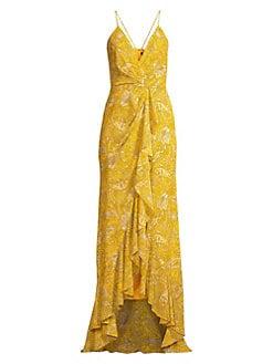 5565f1d094 Product image. QUICK VIEW. Jay Godfrey. Elsie Paisley Ruffle Maxi Dress