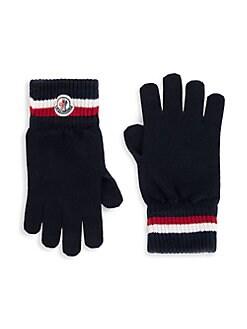 997d31e6 Moncler - Virgin Wool Striped Gloves