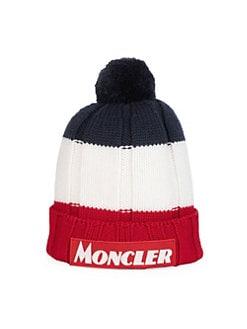 9fdad1e4 QUICK VIEW. Moncler. Colorblock Wool Pom-Pom Beanie Hat