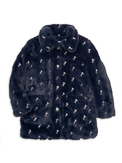 048fc0f34 QUICK VIEW. Chloé. Little Girl's & Girl's Horse Embroidered Faux-Fur Jacket
