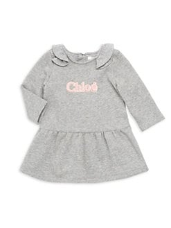 4998ead7a9b58f Product image. QUICK VIEW. Chloé. Baby's & Little Girl's Ruffle Trim  Embroidered Logo Dress
