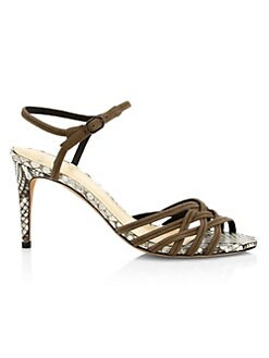 084ecb9c52 QUICK VIEW. Alexandre Birman. Berthe Python & Leather Strappy Heels