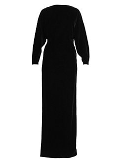 0522360db QUICK VIEW. Alaïa. Stretch Velvet Long-Sleeve Column Gown