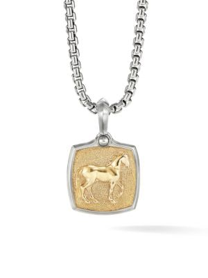 David Yurman Petrvs 18k Yellow Gold Black Titanium Horse Amulet