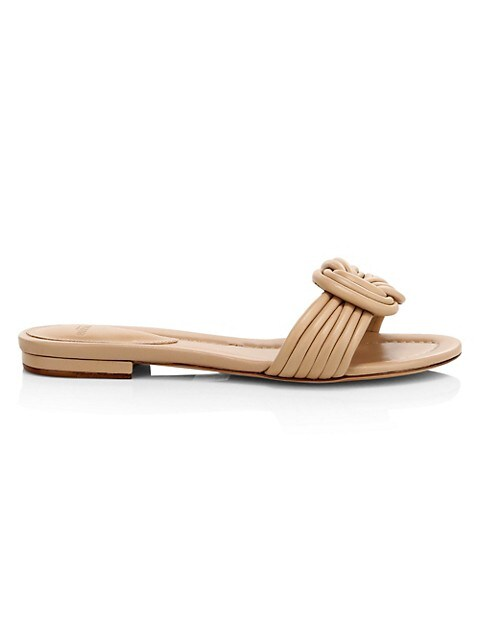 Vicky Knotted Flat Leather Sandals