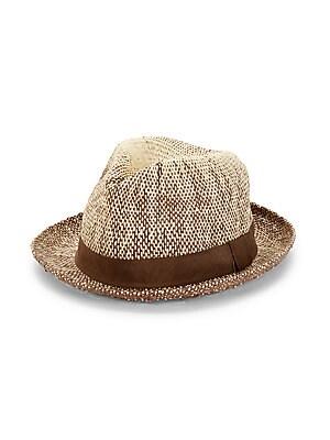 2f13450c Paul Smith - Two Tone Straw Fedora Hat