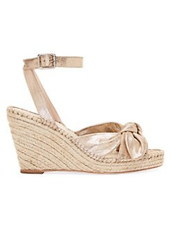 434198ef4969 QUICK VIEW. Loeffler Randall. Tessa Bow Leather Espadrille Wedge Sandals