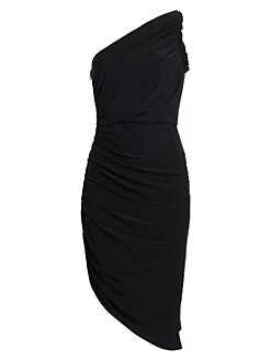 8b48e94bc696d QUICK VIEW. Halston Heritage. One-Shouldered Ruched Jersey Dress
