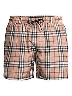 0c3fb4f48be29 Burberry. Grafton Mid-Length Vintage Plaid Swim Shorts