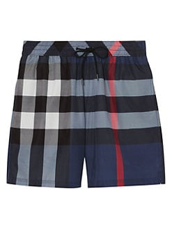 51b915cac8 Burberry. Checker Print Swim Shorts
