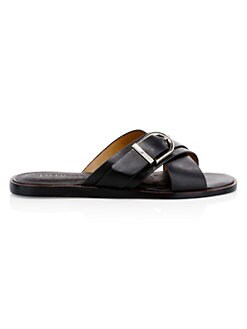 af4530312ae4 Parsin Leather Buckled Slide Sandals BLACK. QUICK VIEW. Product image