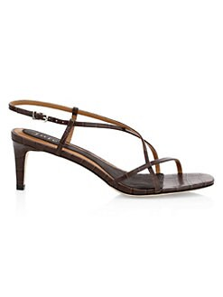 1065d87461f7 Joie. Malou Croc-Embossed Leather Strappy Sandals