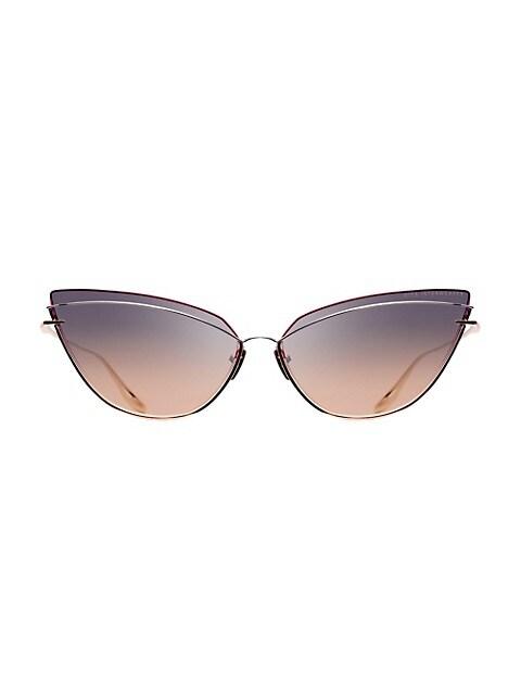 Interweaver 63MM Cat Eye Sunglasses