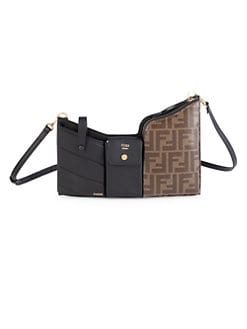 012ea997d36e QUICK VIEW. Fendi. Mini Trio Logo Leather Shoulder Bag