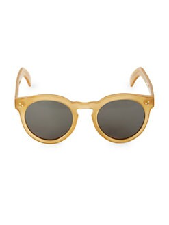 099a0cf59d Product image. QUICK VIEW. Illesteva. 50MM Leonard II Blond Round Sunglasses