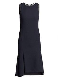 6fd60dbb Sleeveless Round Neck Dress DARK NAVY. QUICK VIEW. Product image