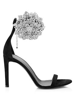 005893ceb5ceb QUICK VIEW. Giuseppe Zanotti. Crystal Cluster Suede Ankle Strap Sandals