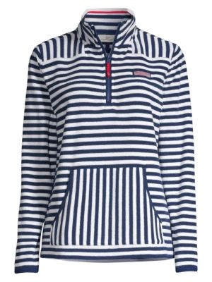 Vineyard Vines Striped Terry Towel Pullover