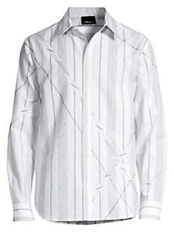 b8158de9 Product image. QUICK VIEW. 3.1 Phillip Lim. Argyle Patchwork Striped Sport  Shirt