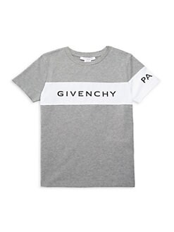 360ccc04600c Product image. QUICK VIEW. Givenchy. Little Boy's & Boy's Colorblock Logo T- Shirt