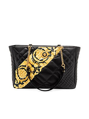 4407b07161b044 Versace - Quilted Leather Tote Bag - saks.com