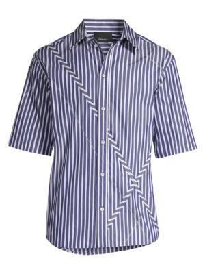 3 1 Phillip Lim Argyle Patchwork Striped Sport Shirt