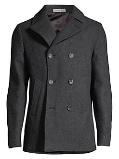 d7612eb73d6 QUICK VIEW. Corneliani. Wool Button-Front Peacoat