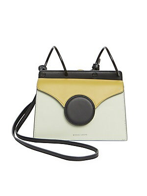 "Image of Danse Lente's Mini Phoebe bag is crafted in an accordion silhouette with double gussets and a crossbody strap. Magnetic snap closure Double gusset Colorblock Lined Leather Imported SIZE Crossbody strap, 21"" drop 7.75""H x 8""W x 4.75""D. Handbags - Collectio"