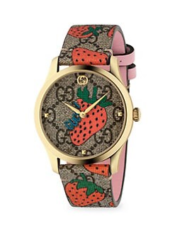9f2c4f4fe80 Product image. QUICK VIEW. Gucci. G-Timeless Contemporary Strawberry  Goldtone PVD Watch