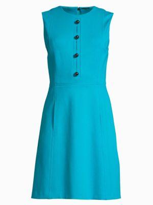 Elie Tahari Peyton Sleeveless Fit-and-flare Dress In Aquarius