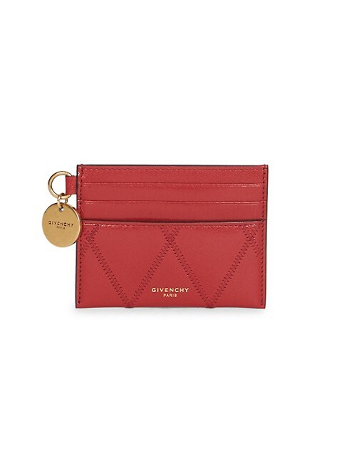 Losange Quilted Leather Card Case