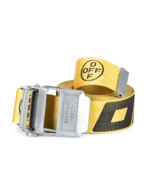 Off-White 2.0 Industrial Logo Belt In Yellow Black