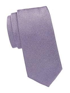 e46ab75ce6c2 Emporio Armani. Micro Neat Print Silk Tie