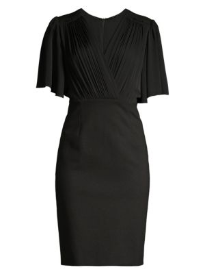 Elie Tahari Tarava Flutter Sleeve Dress
