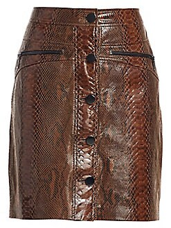 3393828edd112a QUICK VIEW. Elie Tahari. Tammy Snakeskin Embossed Leather Skirt