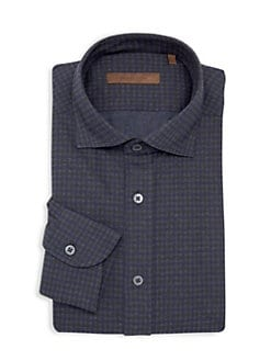 8c4a6abb2 QUICK VIEW. Corneliani. Classic-Fit Check Dress Shirt