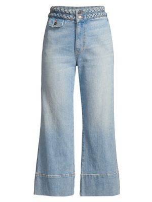 Current Elliott Jeans The Braided Camp High-Rise Crop Jeans