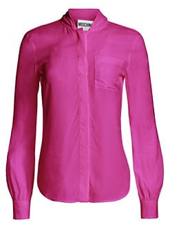 2a2fd5501 Product image. QUICK VIEW. Moschino. Silk Button-Down Blouse