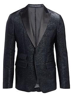 79a40b76 QUICK VIEW. Dsquared2. London Fit Silk Lame Classic Blazer