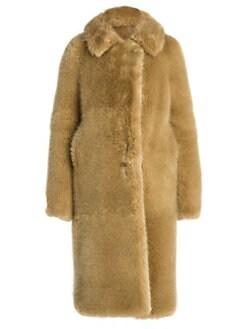 2ec7a22cb Long Faux-Fur Teddy Coat GOLD. QUICK VIEW. Product image