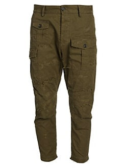 bcdef0692c Product image. QUICK VIEW. Dsquared2. Skinny-Leg Distressed Cargo Pants