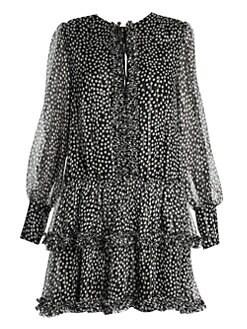 aafe5c971ef6 Product image. QUICK VIEW. Stella McCartney. Polka Dot Tiered Stretch Silk  Crepe Mini Dress