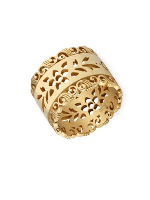 220b6ff9dab31 Gucci - 18K Yellow Gold Running G Band Ring - saks.com