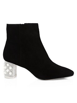 57d50953fa Toni Leather Embellished Ankle Boots BLACK PEARL. QUICK VIEW. Product image