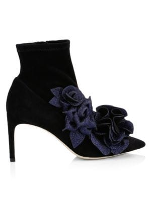 Sophia Webster Jumbo Lilico Suede Ankle Boots
