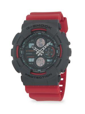 G-Shock Watches Black & Red Analog-Digital Watch