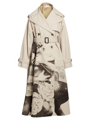 Valentino Coats Lovers Printed Trench Coat