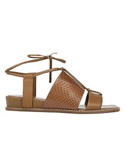 7eba205f9 Vince. Forster Leather   Watersnake Leather Sandals