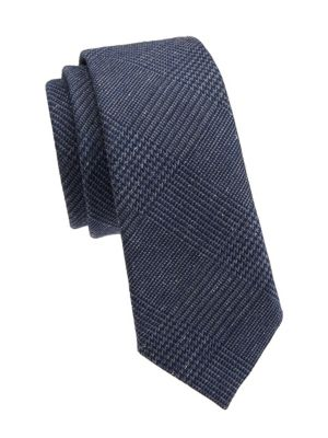 Brunello Cucinelli Tonal Plaid Silk Tie